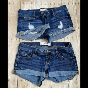 Two pair of distressed shorts